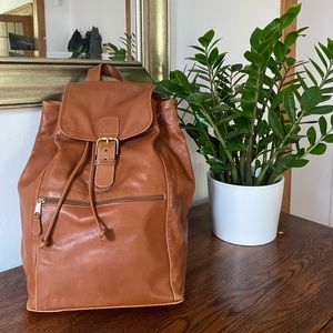 Coach Brown Leather Rucksack Backpack